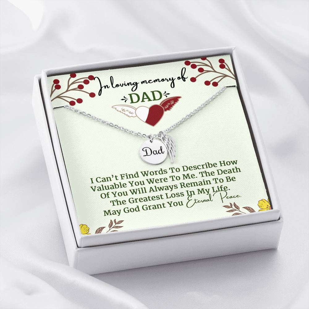 Remembrance Necklace for Dad - Clicksstars