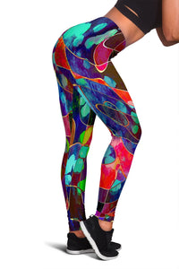 Women's Abstract Art Leggings - Clicksstars