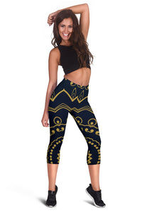 Mandala Design Capris Leggings - Clicksstars