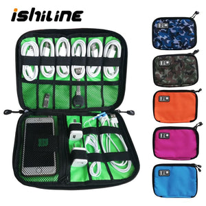 Gadget Organizer USB Cable Storage Bag Travel Digital Electronic Accessories Pouch Case USB Charger Power Bank Holder Kit Bag