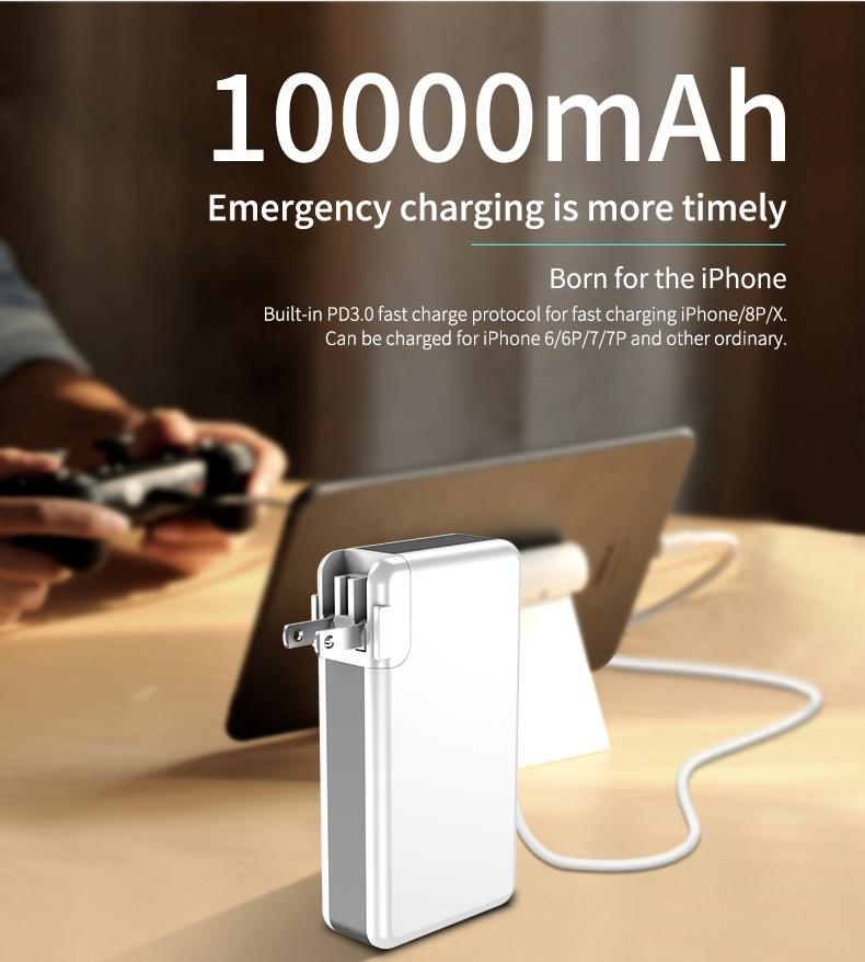 PowerPad - 3 In 1 Wall Charger and Wireless Power Bank Station
