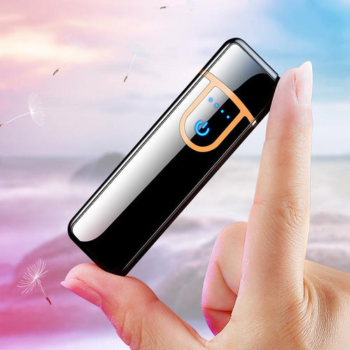 USB mini electronic lighter windproof metal Charging electric Lighters for men gadgets mens gifts cigarette smoking accessories