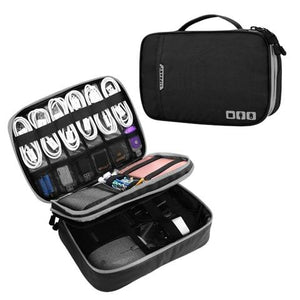 Portable Electronic Accessories Travel case,Cable Organizer Bag Gadget Carry Bag for iPad,Cables,Power,USB Flash Drive, Charger