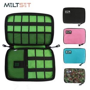 Gadget Cable Organizer Storage Bag Travel Electronic Accessories Cable Pouch Case USB Charger Power Bank Holder Digitals Kit Bag
