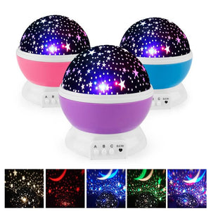 Novelty LED Rotating Star Projector