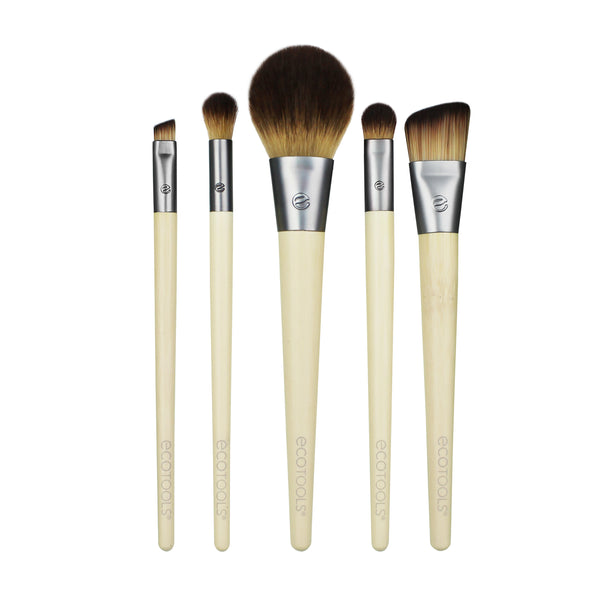 EcoTools I Need to Start The Day Beautifully Kit with 5 Brushes, 3 Look Carts & Tray Σετ με 5 Πινέλα Μακιγιάζ 100% Vegan 1606
