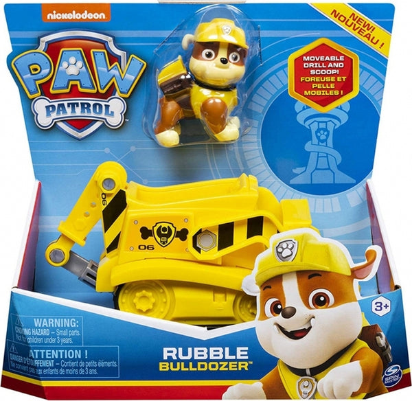 Paw Patrol Rubble Bulldozer Vehicle with Pupppy 6052310