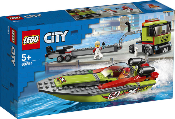 LEGO City Great Vehicles: Race Boat Transporter (60254)
