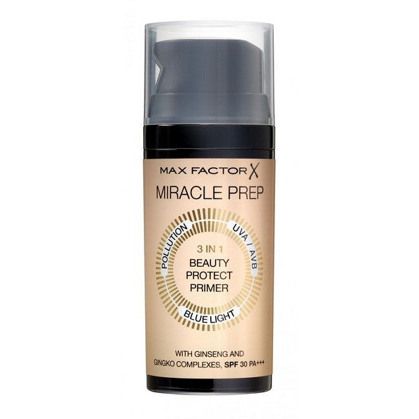 Max Factor Miracle Prep 3 In 1 SPF 30 Beauty Protect Primer Βάση Μακιγιάζ  30ml