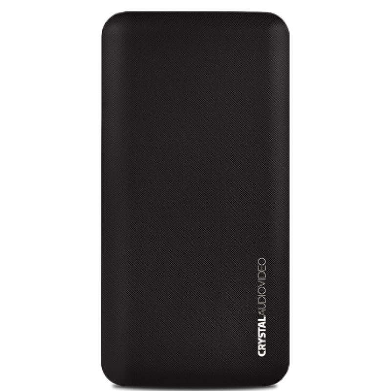 CRYSTAL AUDIO POWER BANK PBK-10K 10.000mAh ΜΑΥΡΟ PBK-10K 381600