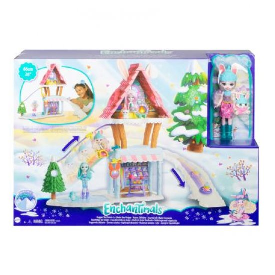 Mattel Enchantimals - Hoppin' Ski Chalet Playset (GJX50) ΧΙΟΝΟΔΡΟΜΙΚΟ ΣΑΛΕ