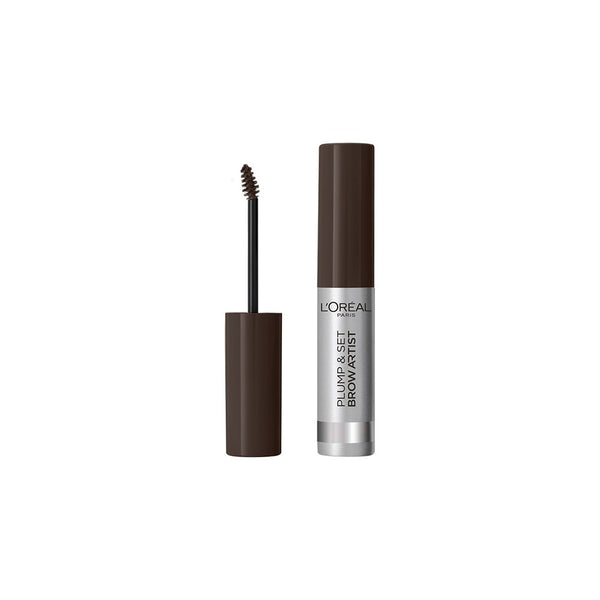 L'Oreal Plump & Set Brow Artist Καφέ Μάσκαρα Φρυδιών 108 Dark Brunette