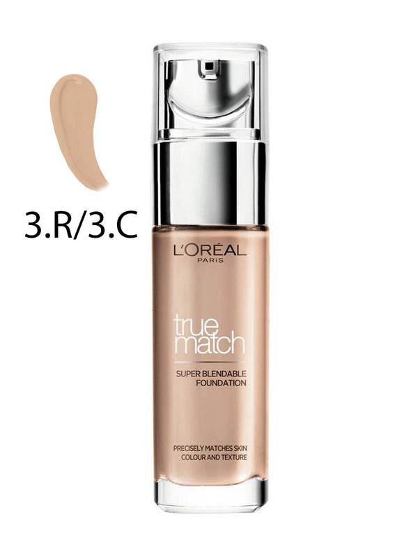 L'Oreal True Match Super-Blendable Foundation C3 Rose Beige 30ml