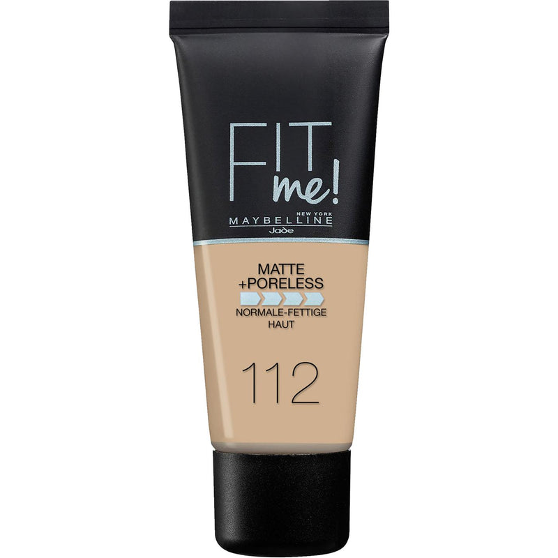 Maybelline Fit Me Matte + Poreless Foundation 112 Soft Beige 30ml