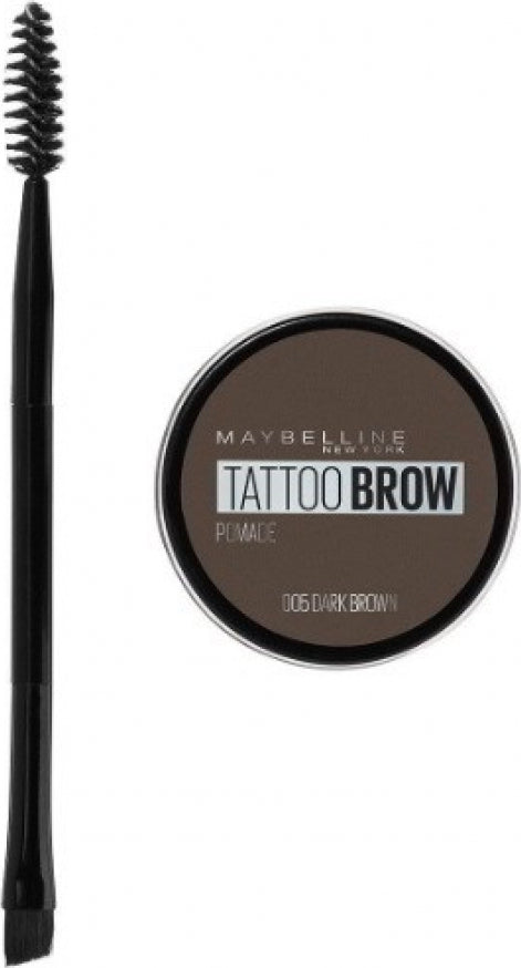Maybelline Tattoo Brow Lasting Pomade Color Καφέ Πομάδα Φρυδιών 05 Dark Brown 4g