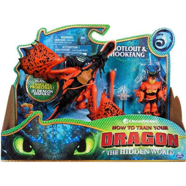Spin Master How to Train Your Dragon - Δράκος & Βίκινγκ - Snotlout & Hookfang (20103710)