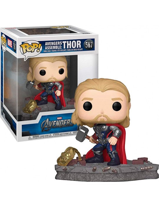 Funko POP! Deluxe: Marvel Avengers Assemble - Thor (Special Edition) 587 Bobble-Head Vinyl Figure ΦΙΓΟΥΡΑ ΘΟΡ