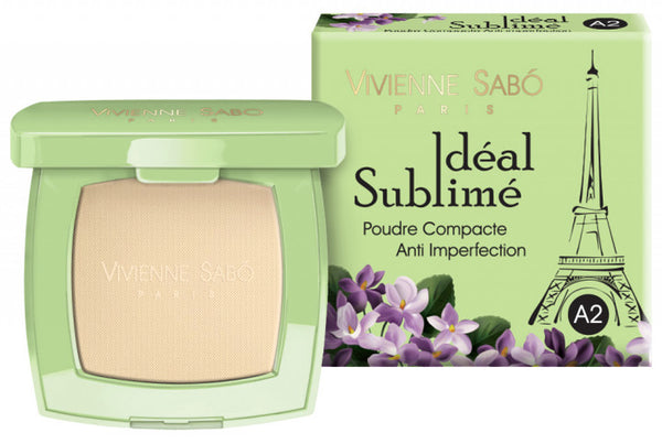 Vivienne Sabó Anti-Imperfection Pressed Powder Ideal Sublime A2 Light Beige 11g Πουδρα κατα των ατελειων του δερματος VG00230202