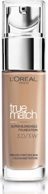 L'Oreal True Match Super Blendable Foundation 3D/3W Golden Beige 30ml