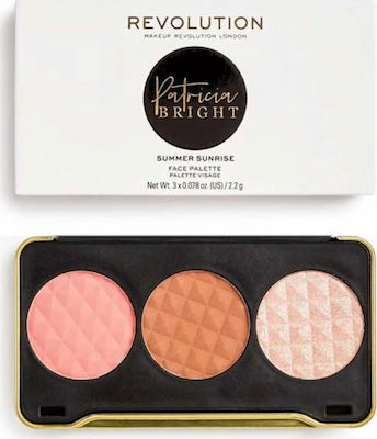 Revolution Beauty X Patricia Bright Summer Sunrise Face Palette 6,6gr ΠΑΛΕΤΑ ΜΑΚΙΓΙΑΖ