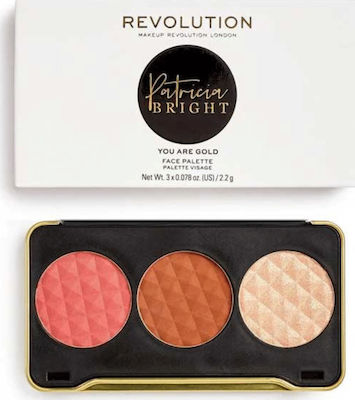 Revolution Beauty X Patricia Bright You Are Gold Face Palette 6,6gr ΠΑΛΕΤΑ ΜΑΚΙΓΙΑΖ