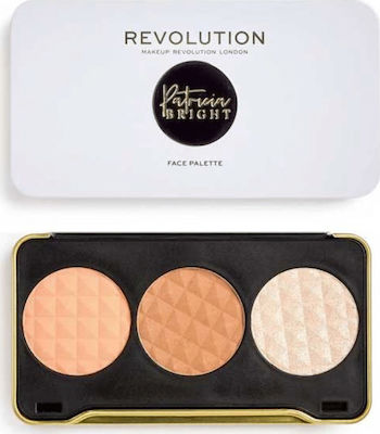Revolution Beauty X Patricia Bright Moonlight Glow Face Palette 6,6gr ΠΑΛΕΤΑ ΜΑΚΙΓΙΑΖ