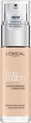 L'Oreal True Match Super Blendable Foundation 0.5N Porcelain 30ml