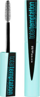 Maybelline Total Temptation Μάυρη Αδιάβροχη Μάσκαρα Waterproof Mascara Black 9.4ml