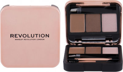 Revolution Beauty Brow Sculpt Kit Brown 2,2gr ΣΕΤ ΜΑΚΙΓΙΑΖ ΦΡΥΔΙΩΝ
