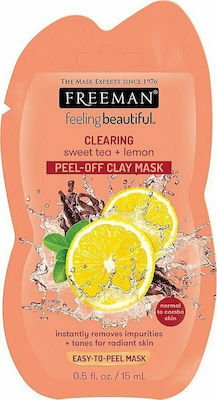 Freeman FeelingBeautiful Clearing Sweet Tea + Lemon Peel - Off Clay Mask 15ml Μασκα Προσωπου 45951