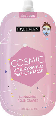 Freeman Μάσκα Καθαρισμού Cosmic Holographic Peel Off Mask Luminizing Rose Spout 35ml 48803