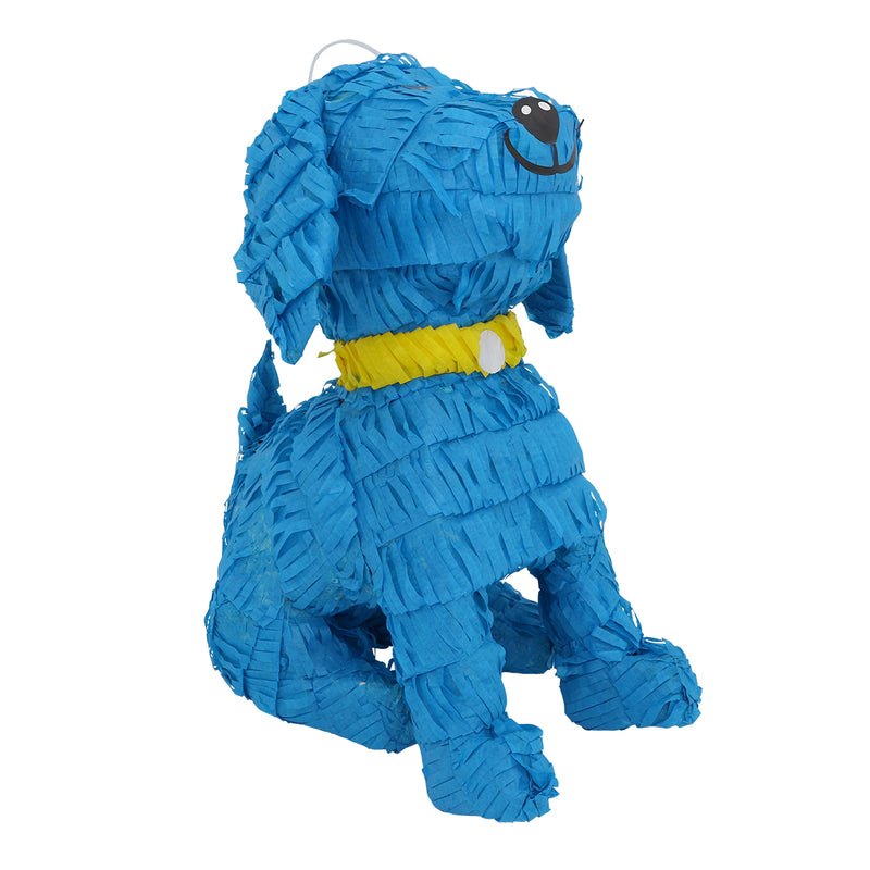 Lutema LTMBlue W/Gold Collar Pup Pinata-279 Mexican Handcrafted