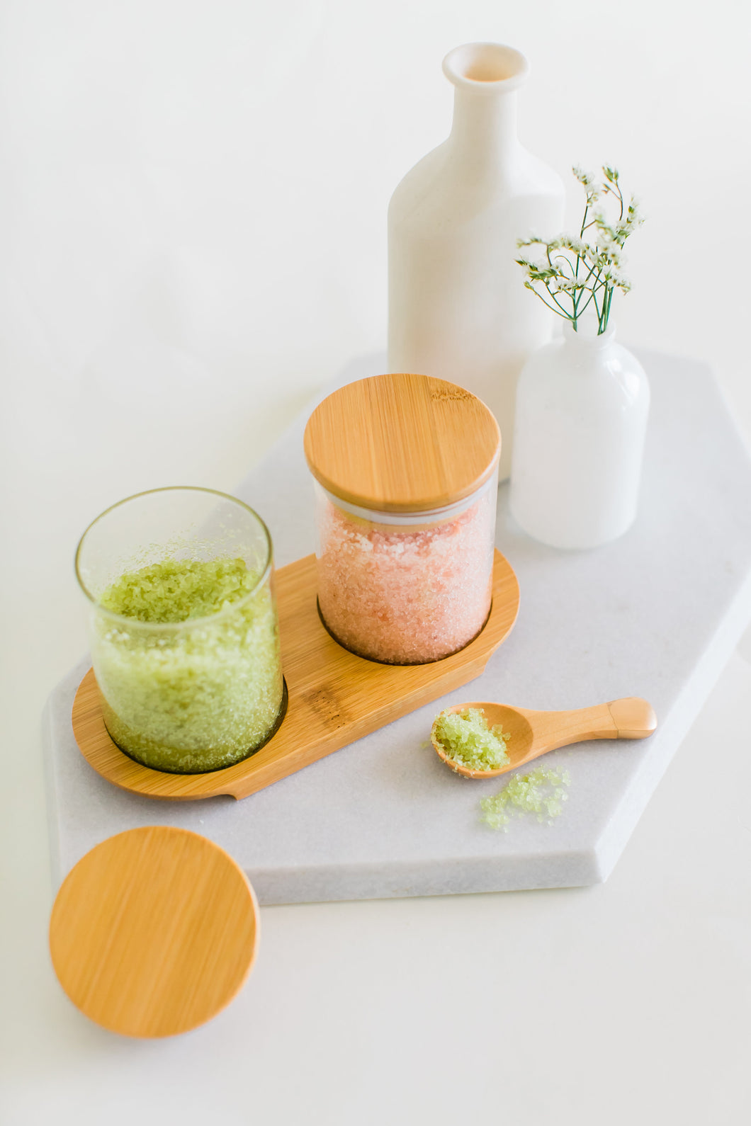 Matcha Mint + Lavender Citrus Bath Salt Set
