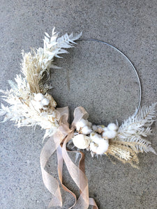 Everlasting White + Ivory Wall hanging