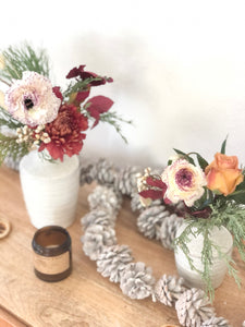 PRE-ORDER HOLIDAY: 'Trio' of sweet winter bud vases