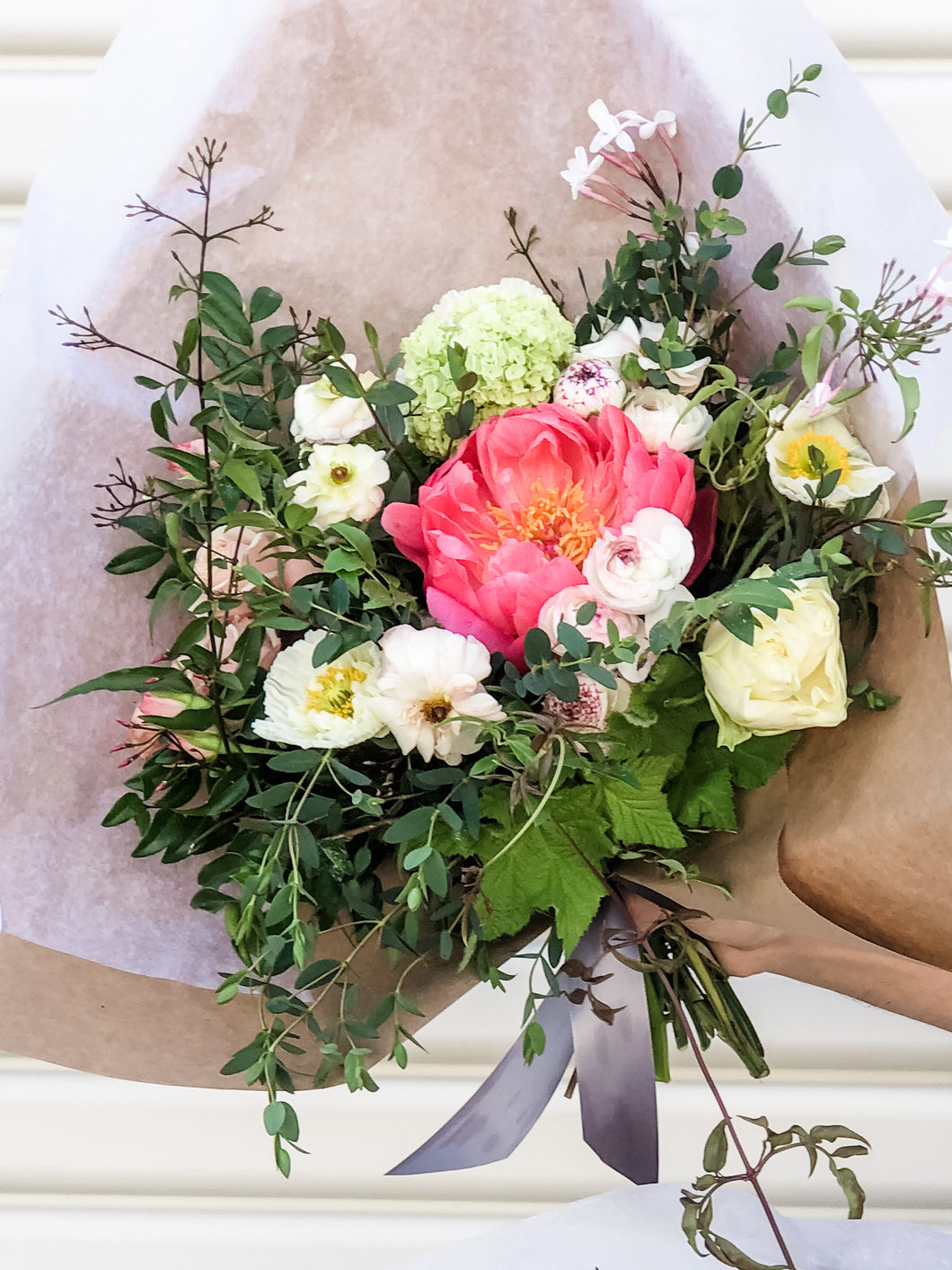 Large hand-tied bouquet