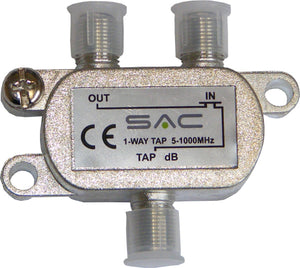 1 way tap. 16dB. Class A shielded