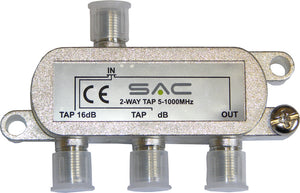 2 way tap. 16dB. Class A shielded