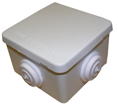 IP55 80mmx80mmx50mm Connection Box WHITE