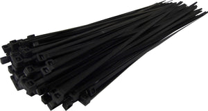 SAC  Cable Ties 4.8mm x 300mm BLACK  - pack of 100