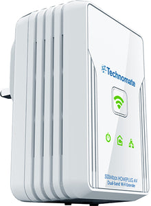 Technomate TM-500 HP Wireless Range Extender & Homeplug