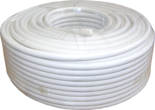 50m RG6 Satellite Downlead WHITE