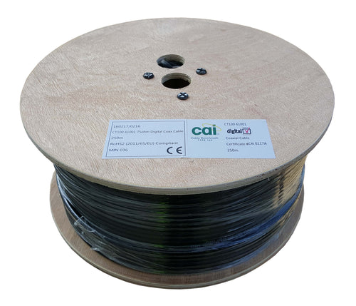 CAI Approved Type100 61001 Cable BLACK 250m