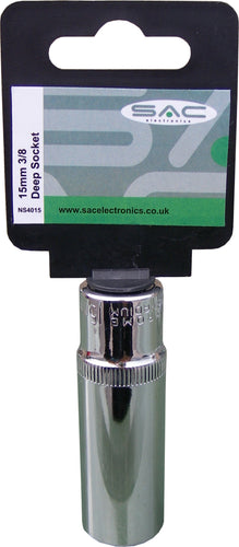 S.A.C. 15mm 3/8 (Deep) Socket