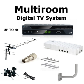 Multiroom Digital TV Box & Aerial Kit