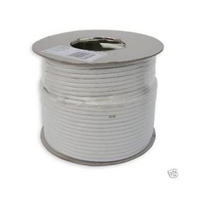 White RG6 Satellite Cable (100m)