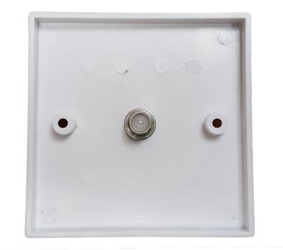 Single 'F' Coupler Wall Plate