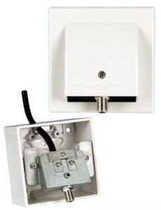 Slim n Fast Outlet Plate 1 x SAT
