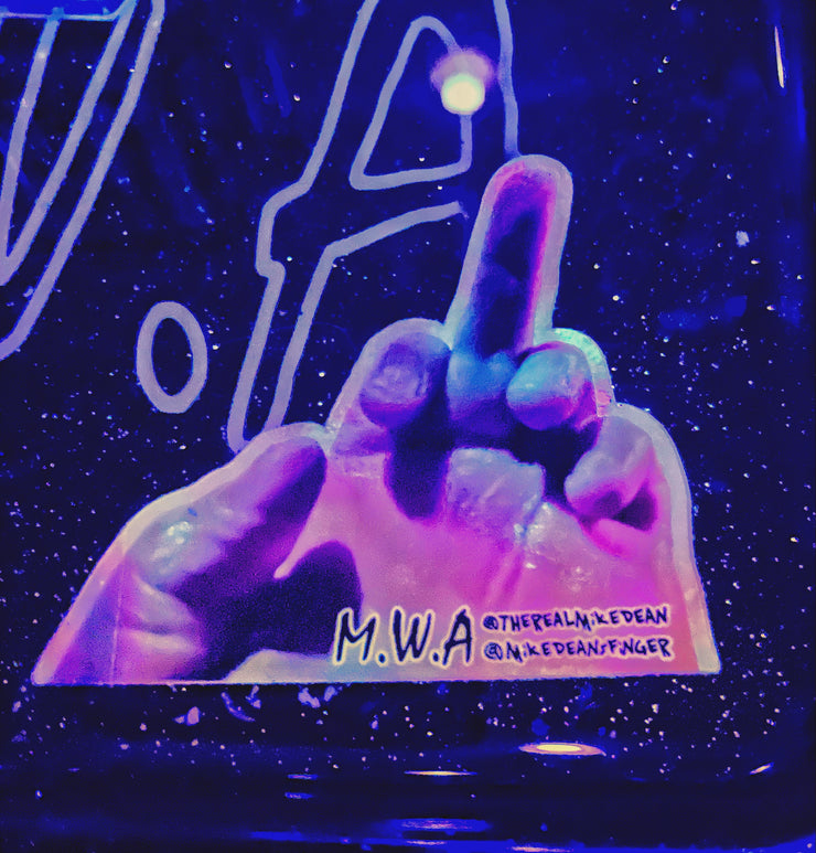 MIKE DEAN'S FINGER HOLOGRAPHIC STICKER | MWA MUSIC