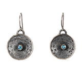 Sea Urchin and Topaz Earrings